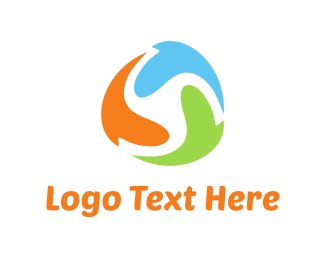 Dynamic - Leaves Circle logo design