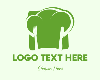 Broccoli - Vegan Chef Hat  logo design