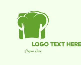 Vegan - Vegan Chef Hat logo design