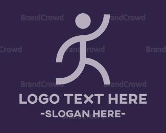 Cross Country - Run Silhouette logo design