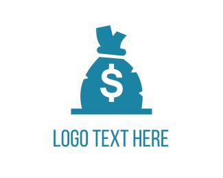 Casino - Money Bag logo design