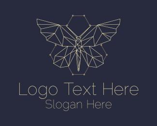 Entomology - Butterfly Beehive Hive logo design