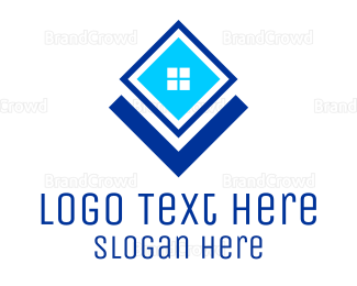 Window - Blue Square Window logo design