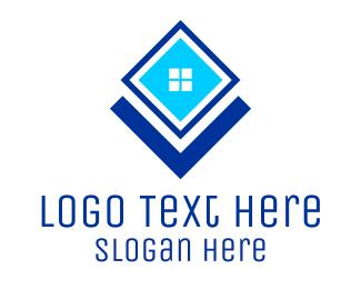 Windows - Blue Square Window logo design