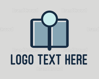 Research - Magnifying Glass logo design