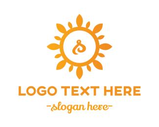 Gardener - Sun Letter S logo design