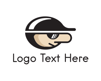 Baseball Hat - Cap & Sunglasses logo design
