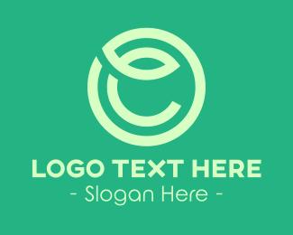 Letter C - Green Leaf Letter C logo design