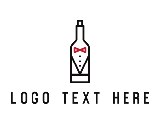 Gentleman - Drink Suit logo design