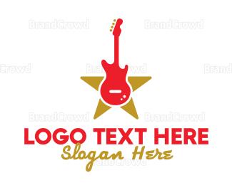 Celebrity - Rock Guitar Band logo design
