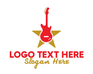Legend - Rock Guitar Music Band logo design