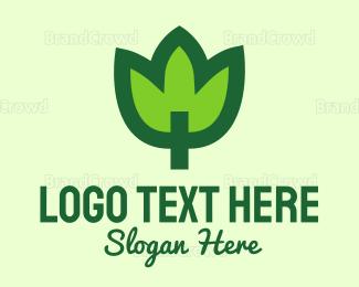 Organic Food - Green Leaf logo design