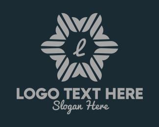 Refrigerator - Decorative Snowflake Lettermark logo design