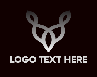 Horn - Interlaced Horn Outline  logo design