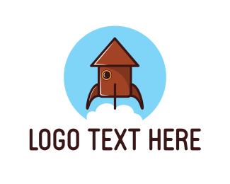 Home - Home Rocket logo design