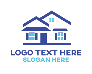 Blue - Blue House Windows logo design