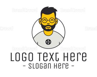 Dude - Web Developer Guy logo design