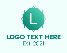 Company - Green Gradient Octagon Letter logo design