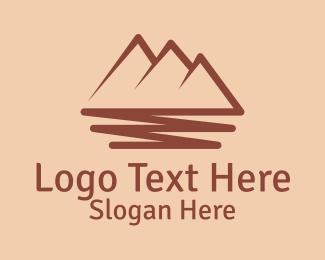 Mountain Range - Mountain Scribble  logo design