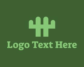Arizona - Cactus Fence logo design