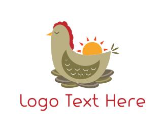 Nest - Chicken Nest  logo design
