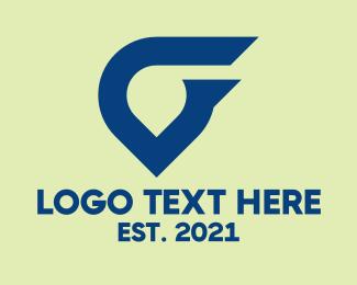 Blue Tech Abstract Symbol Logo