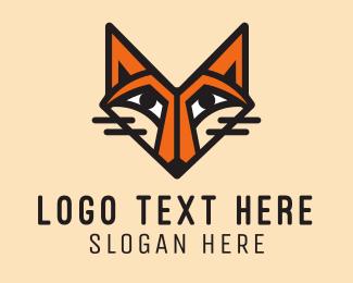 Coyote - Orange Fox logo design