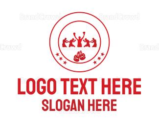 Fighting - Boxing Circle logo design