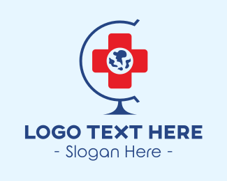 Med - Global Hospital logo design
