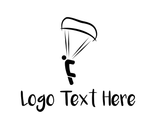 Parachute - Skydiver Jump logo design