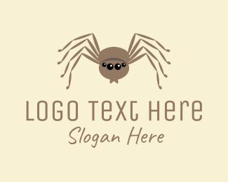 Fat - Cute Fat Spider  logo design