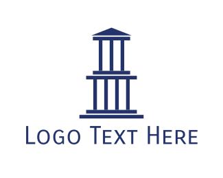 Greek - Blue Greek Building logo design