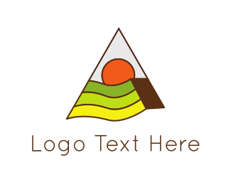 Farmers - Triangle & Landscape logo design