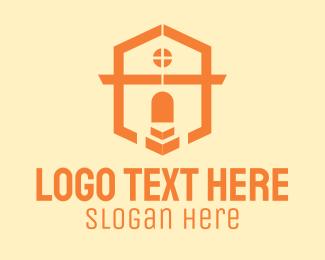 Entrance - Shield Letter A Realty House logo design