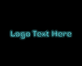 Glow - Tech Blue Glow logo design