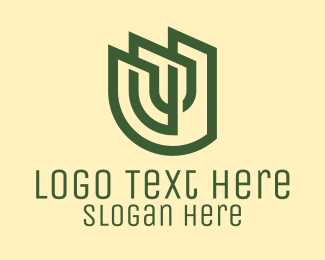 Legal Counseling - Green Professional Letter U  logo design