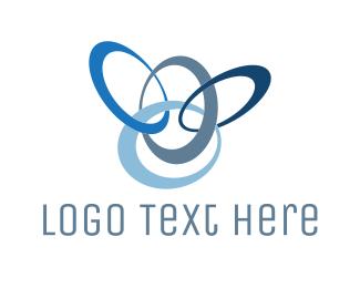 Link - Blue Rings logo design