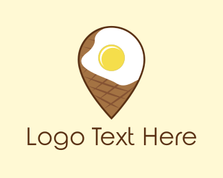 Breakfast - Egg Pin logo design