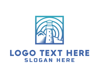Coast Guard - Blue Lighthouse logo design