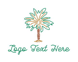 Desert - Desert Palm Tree logo design