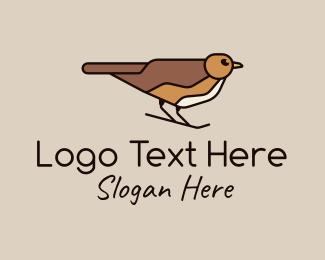 Sparrow - Brown Sparrow logo design