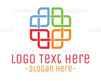 Diversity - Rainbow Cross logo design