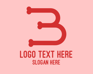 Number 3 - Black Bone B logo design