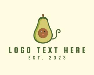 Fresh Fruit - Avocado Fruit Mascot logo design