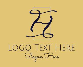 Calligraphic - Elegant Calligraphic Letter H logo design