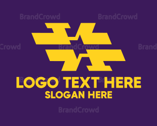 Double - Abstract Double H logo design