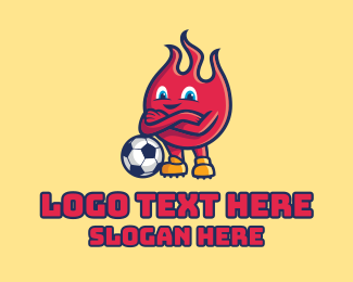 """""""Fire Soccer Football """" by town"""