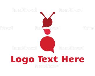 Language - Red Ant  logo design