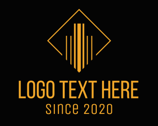 Black And Gold - Minimalist Building Construction logo design