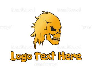 Yellow - Yellow Skull logo design